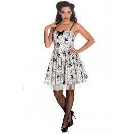 šaty dámské HELL BUNNY - Mary Jane - WHT - 4288 S