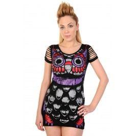 šaty dámské (tunika) BANNED - Owl - Black - DBN562 S