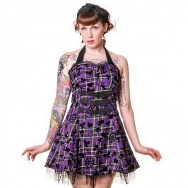 šaty dámské BANNED - Purple Tartan - DBN504PUR M