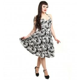 šaty dámské ROCKABELLA - Josefine - Skull Flower M