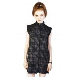 šaty dámské DISTURBIA - Lupine - Black/Grey - DIS756 M
