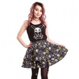 šaty dámské CUPCAKE CULT - Thunder Skater - Black - POI051 XL