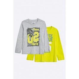 Blu Kids - Dětské tričko s dlouhým rukávem 98-128 cm (2-pack)