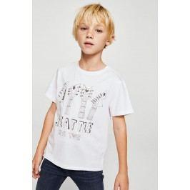 Mango Kids - Dětské tričko Tour 104-164 cm