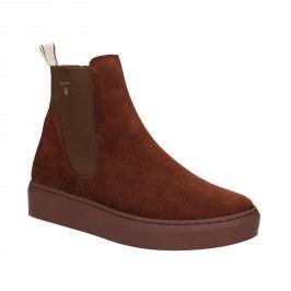 Kožená dámská kotníčková obuv