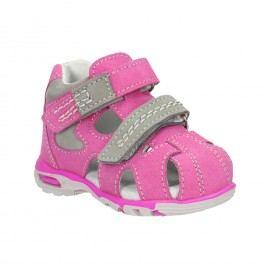 Dětské kožené sandály růžové Sandály a pantofle