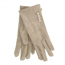 Dámské textilní rukavice s knoflíčky
