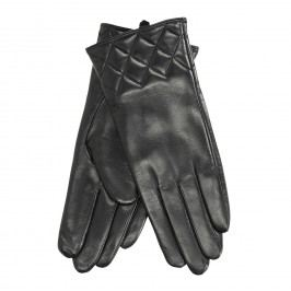 Dámské kožené rukavice černé