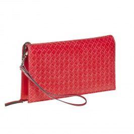 Červená peněženka s poutkem