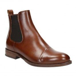 Hnědá kožená Chelsea obuv