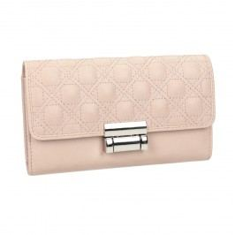 Růžová dámská peněženka s prošitím Peněženky pro ženy