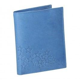 Modrá kožená peněženka Peněženky pro ženy