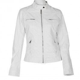 Dámská koženková bunda bílá