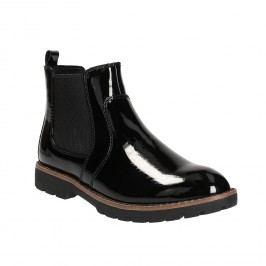 Lakované Chelsea Boots na výrazné podešvi