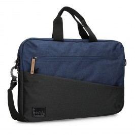 Černo-modrá taška na notebook