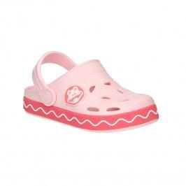 Růžové sandály s žabkou