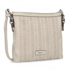 Crossbody kabelka s perforovaným vzorem