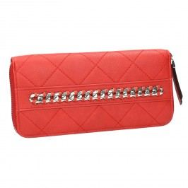 Červená peněženka s řetízkem Peněženky pro ženy