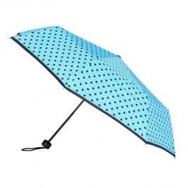 Modrý deštník s puntíky