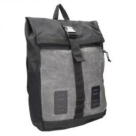 Šedý unisex batoh s přezkou