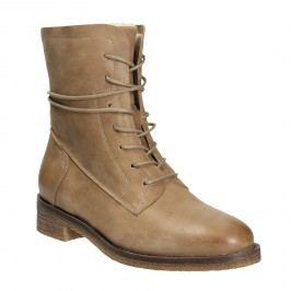 Kožené šněrovací boty dámské