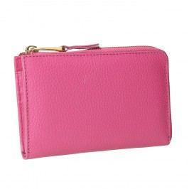 Růžová kožená peněženka