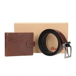 Dárkové balení kožený opasek a peněženka