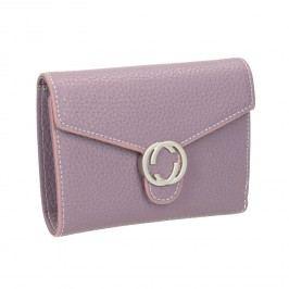 Růžová peněženka s kovovým detailem Peněženky pro ženy
