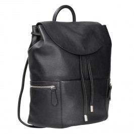 Černý kožený batoh se zipy