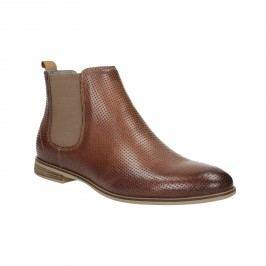 Kožené kotníčkové Chelsea Boots s perforací