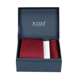 Červená sada kravaty a kapesníčku