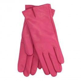 Růžové kožené rukavice