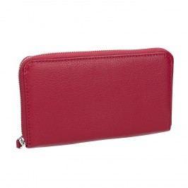 Červená kožená peněženka Peněženky pro ženy