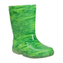 Zelené holínky se vzorem