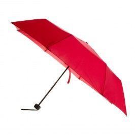 Červený skládací deštník