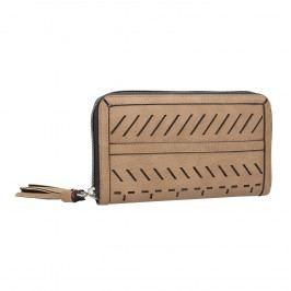 Dámská béžová peněženka s průstřihy