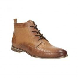 Kožená kotníčková obuv s perforací
