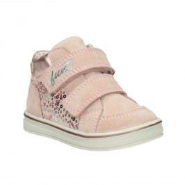 Dětská kotníčková kožená obuv dívčí
