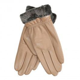 Dámské kožené rukavice béžové