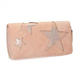 Růžová peněženka s hvězdami Peněženky pro ženy