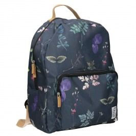 Modrý batoh s potiskem
