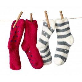 Měkoučké ponožky s protiskluzovými nopky, 2 páry