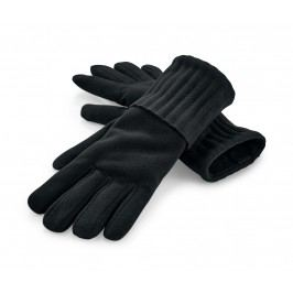 Mikrofleecové rukavice, černé