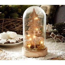 Velký dekorační zvon s LED