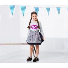 Oboustranná sukně s oboustrannou zástěrkou Dívka