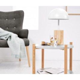 Stolní lampa s LED a dřevěnou nohou