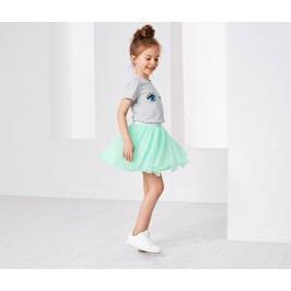 Tylová sukně se třpytivým pasem Dívka